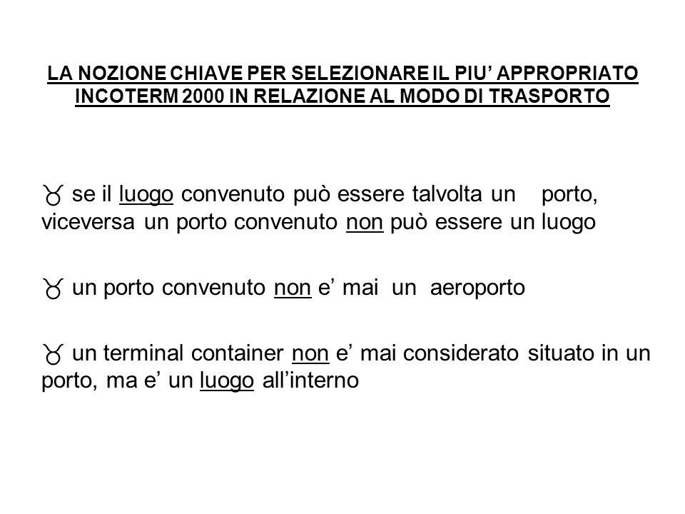 un porto convenuto non e' mai un aeroporto
