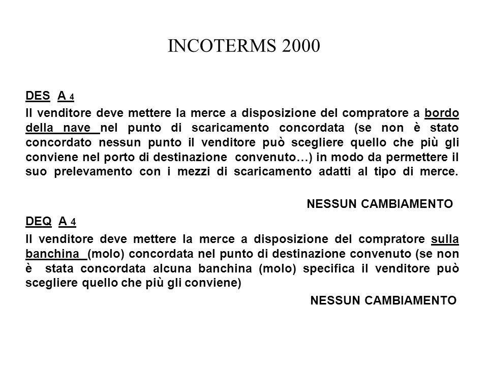 INCOTERMS 2000 DES A 4.