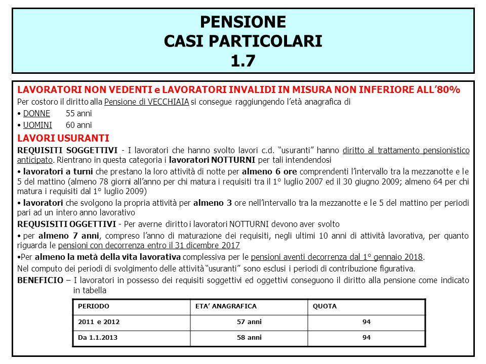 PENSIONE CASI PARTICOLARI 1.7