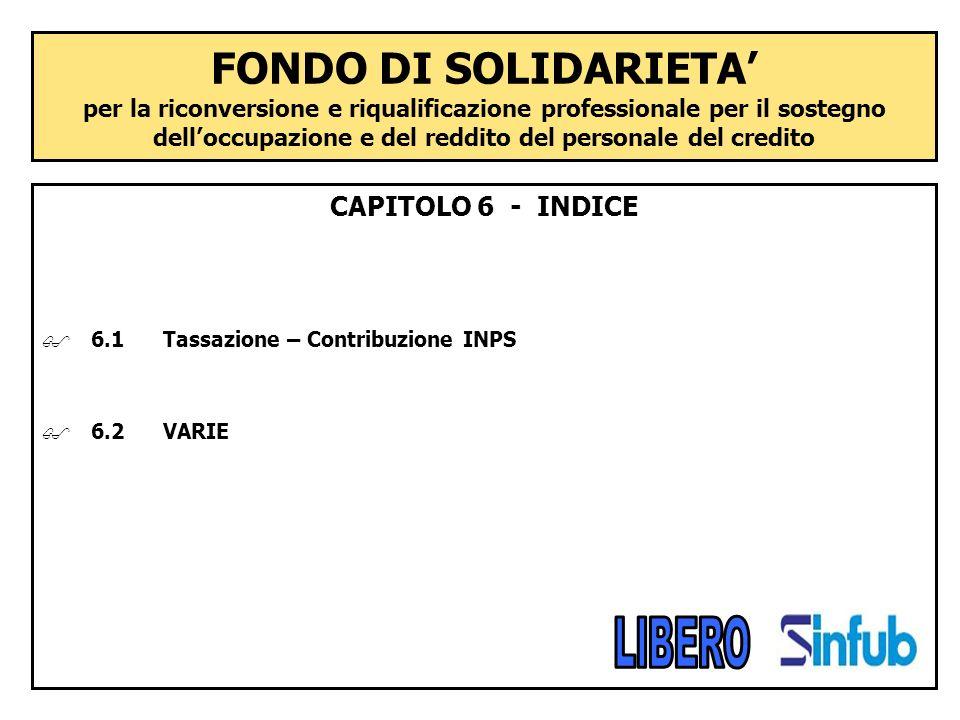 FONDO DI SOLIDARIETA' per la riconversione e riqualificazione professionale per il sostegno dell'occupazione e del reddito del personale del credito