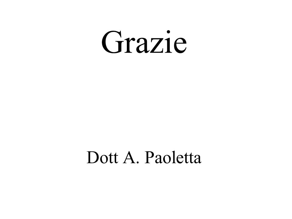 Grazie Dott A. Paoletta