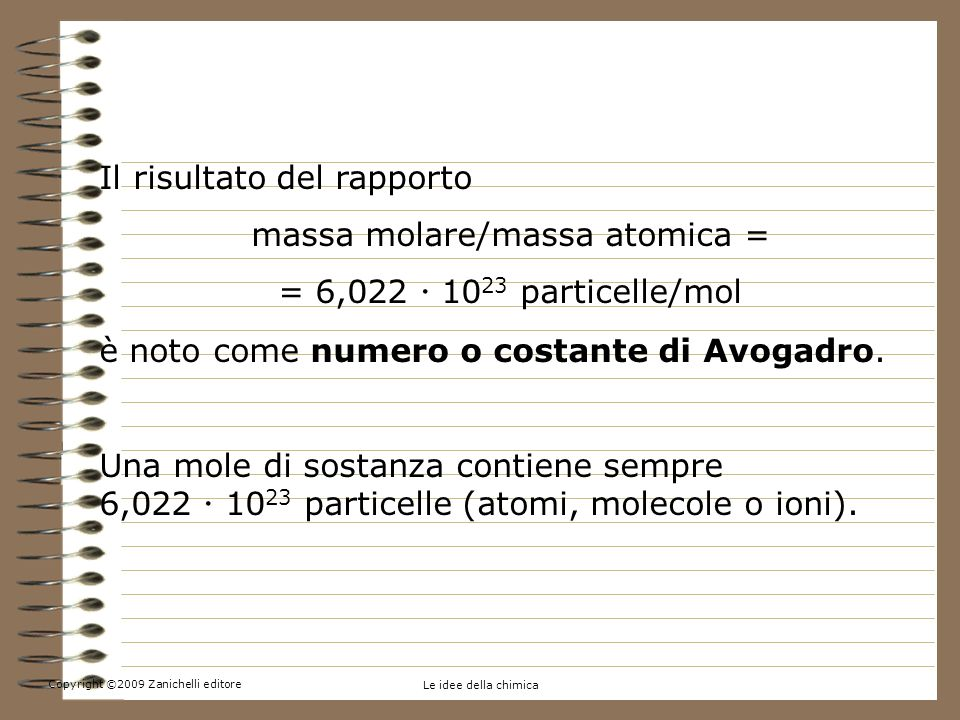 massa molare/massa atomica =