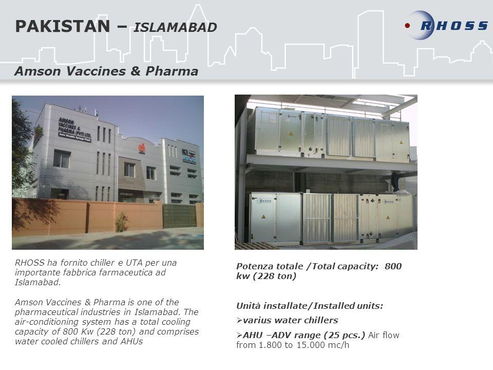 PAKISTAN – ISLAMABAD Amson Vaccines & Pharma