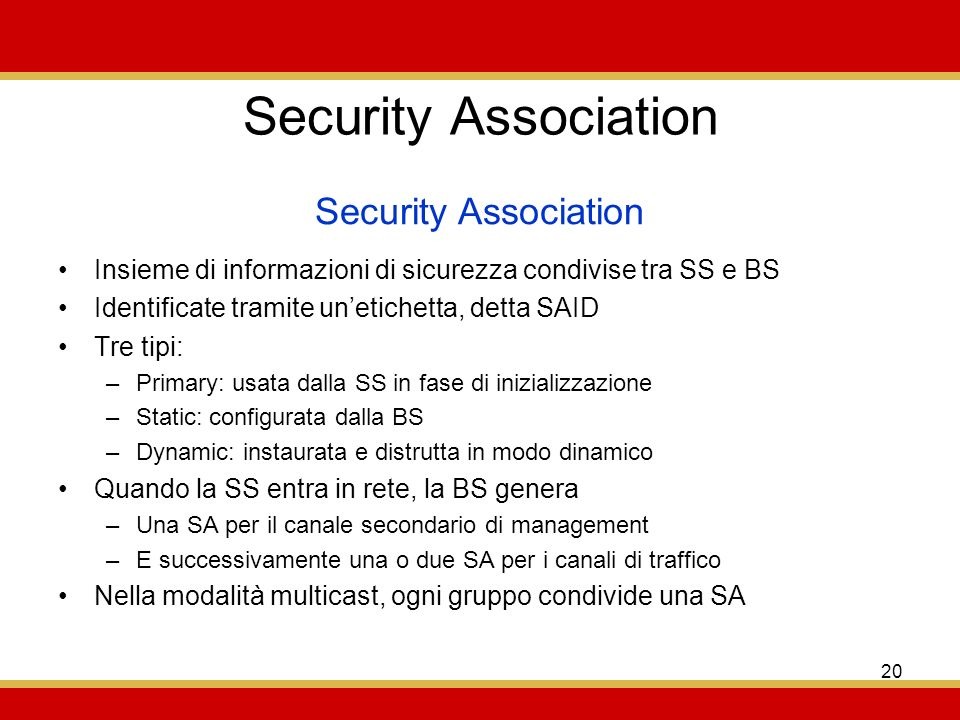 Security Association Security Association