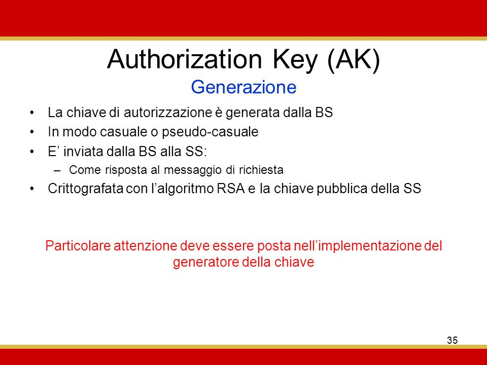 Authorization Key (AK)