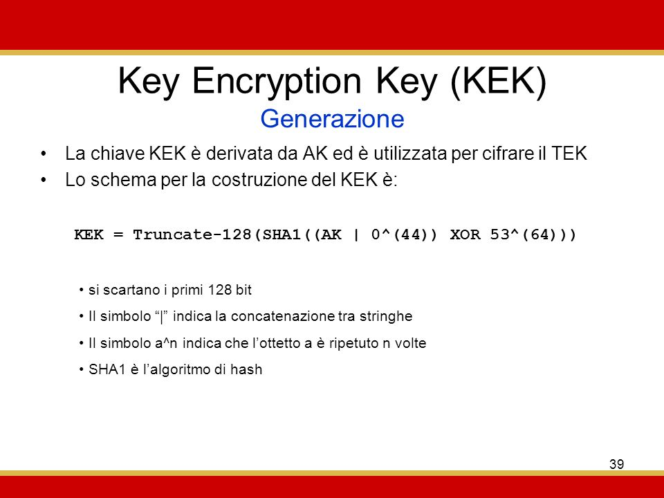 Key Encryption Key (KEK)