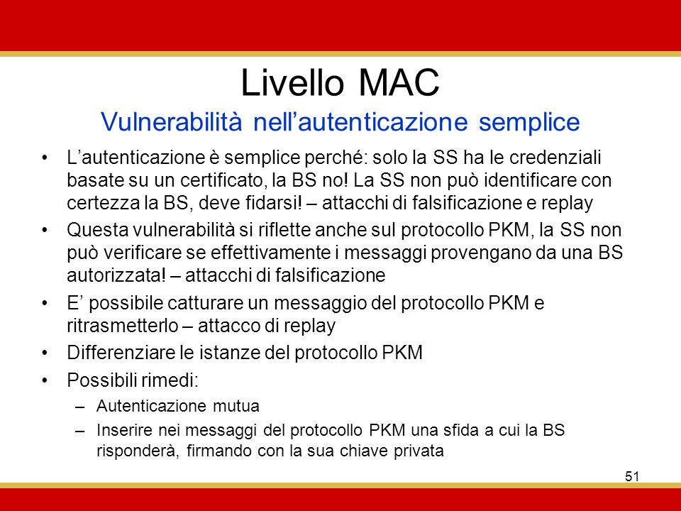 Vulnerabilità nell'autenticazione semplice