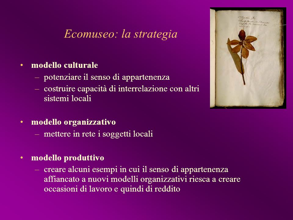 Ecomuseo: la strategia
