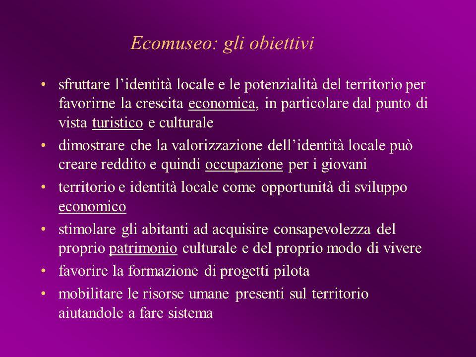 Ecomuseo: gli obiettivi