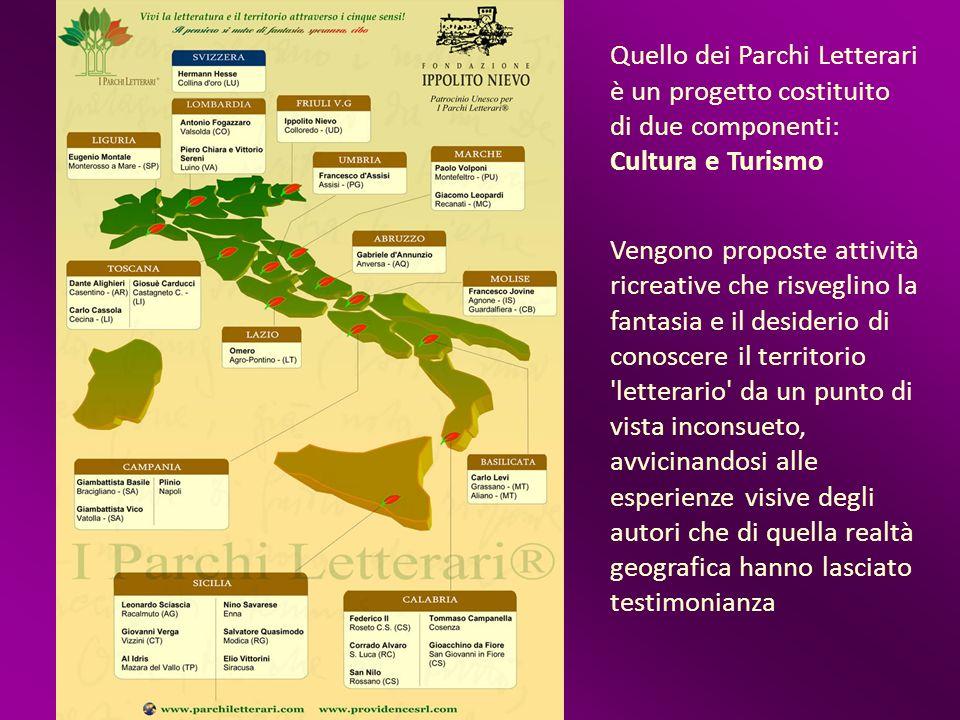 Quello dei Parchi Letterari è un progetto costituito di due componenti: Cultura e Turismo