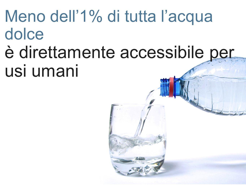 è direttamente accessibile per usi umani