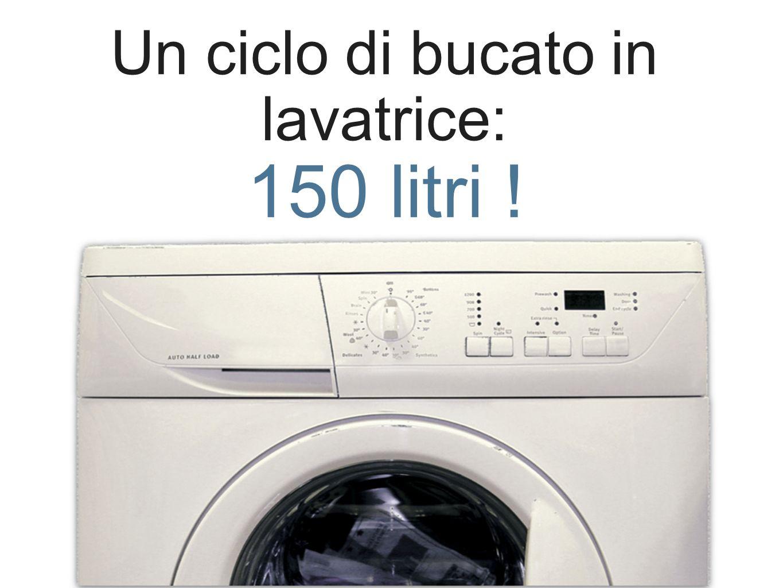 Un ciclo di bucato in lavatrice: