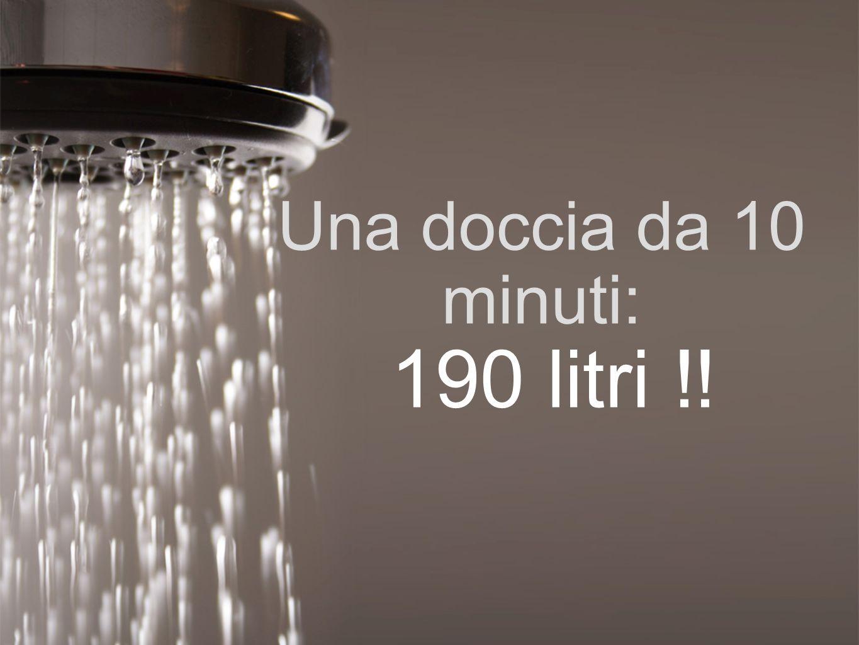 Una doccia da 10 minuti: 190 litri !!