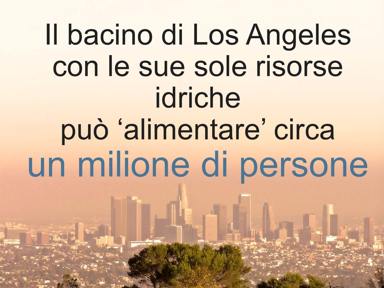 un milione di persone Il bacino di Los Angeles