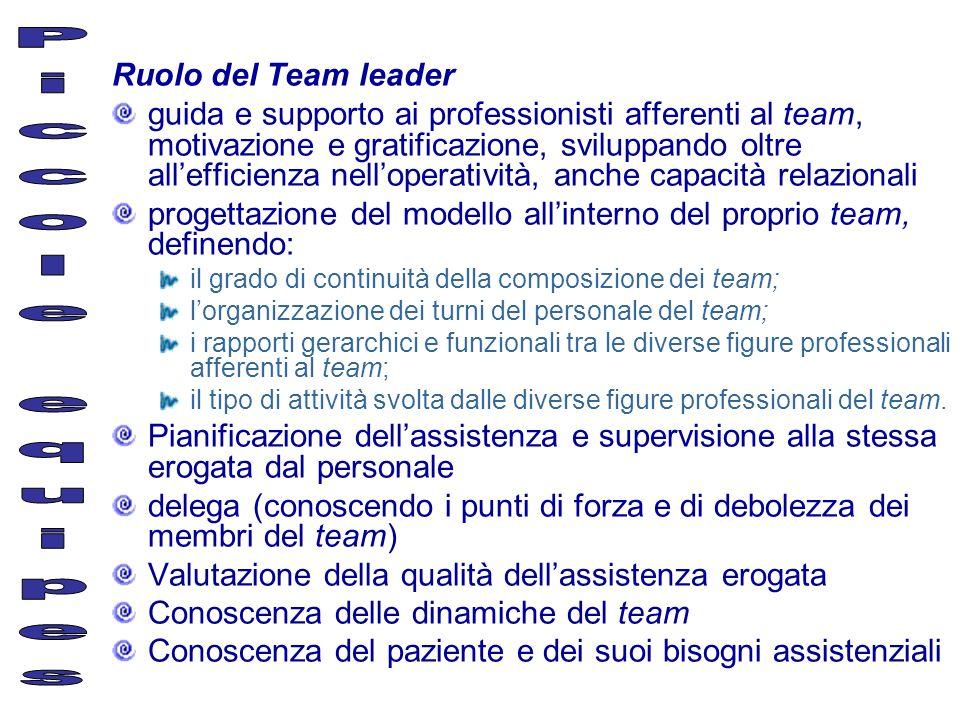Piccole equipes Ruolo del Team leader