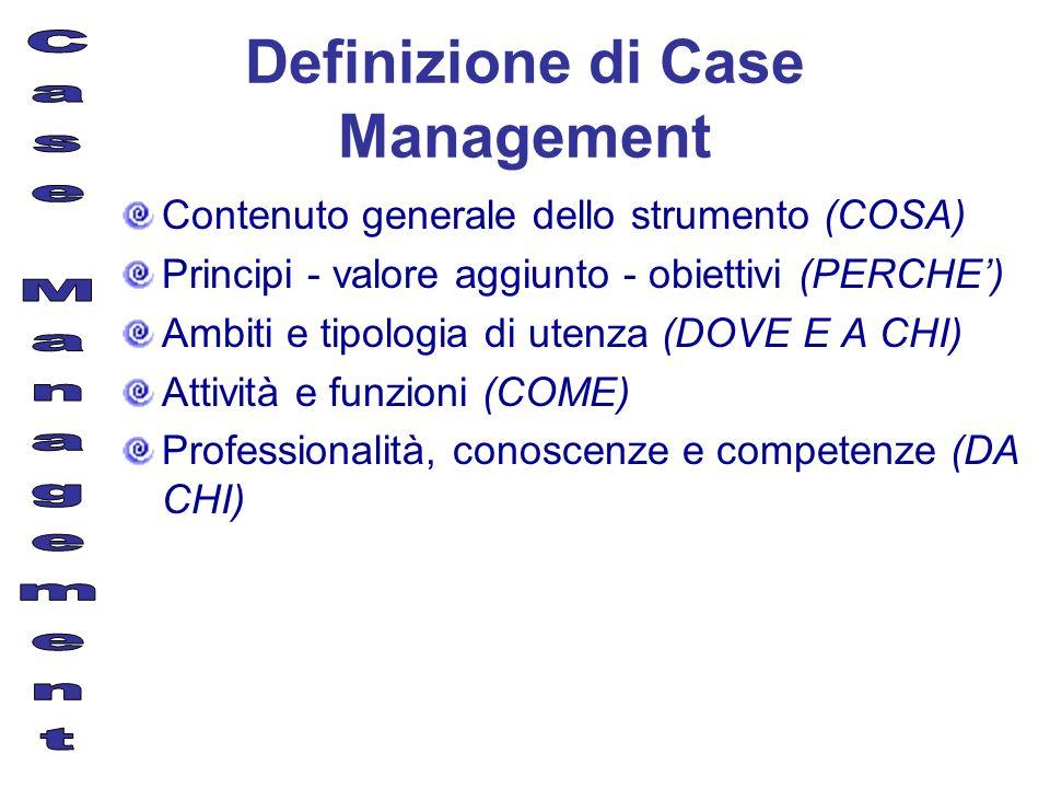 Definizione di Case Management