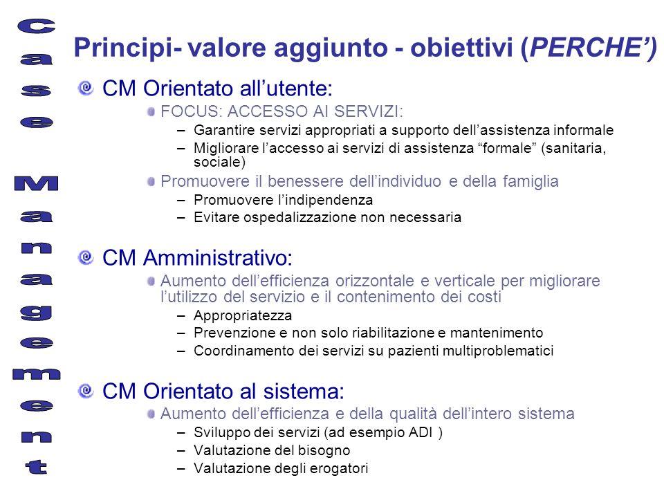 Principi- valore aggiunto - obiettivi (PERCHE')