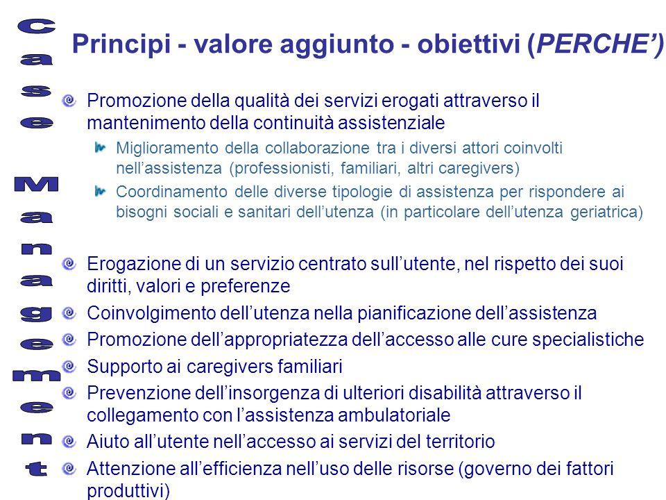 Principi - valore aggiunto - obiettivi (PERCHE')