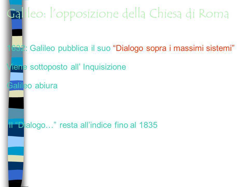 Galileo: l'opposizione della Chiesa di Roma