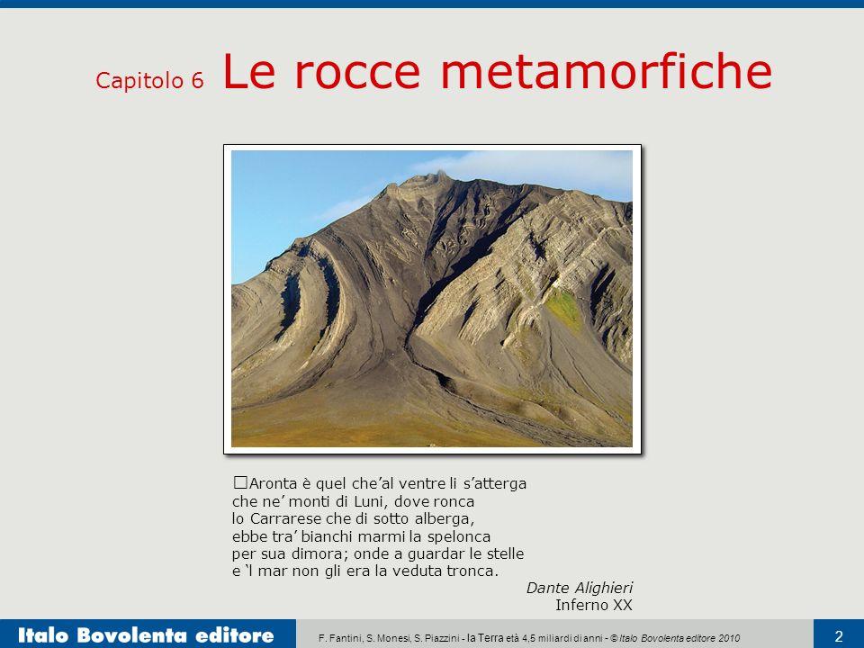 Capitolo 6 Le rocce metamorfiche
