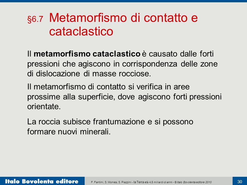 §6.7 Metamorfismo di contatto e cataclastico