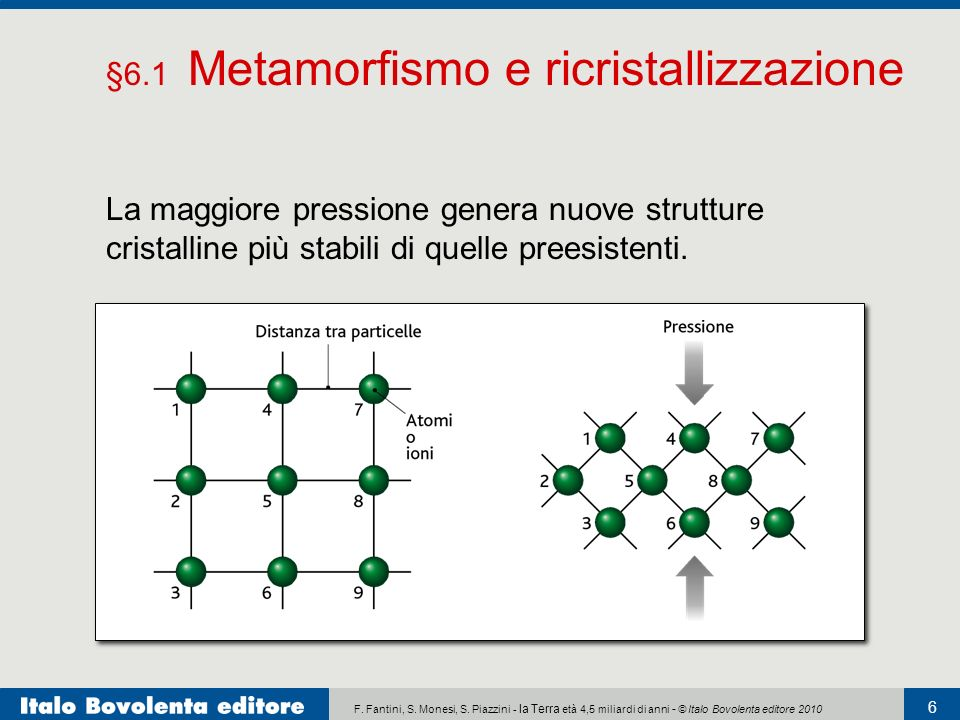 §6.1 Metamorfismo e ricristallizzazione