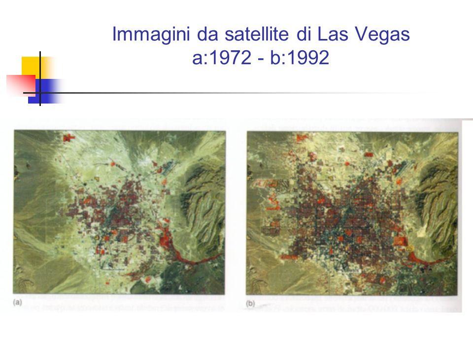 Immagini da satellite di Las Vegas a:1972 - b:1992