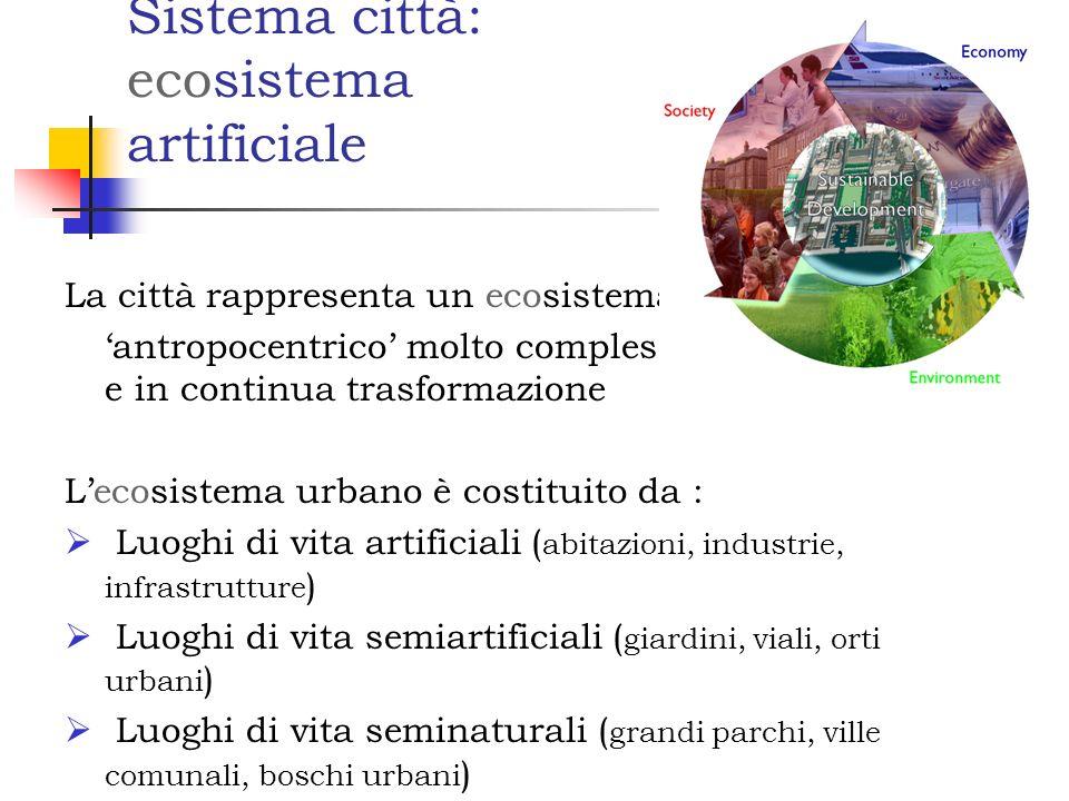 Sistema città: ecosistema artificiale