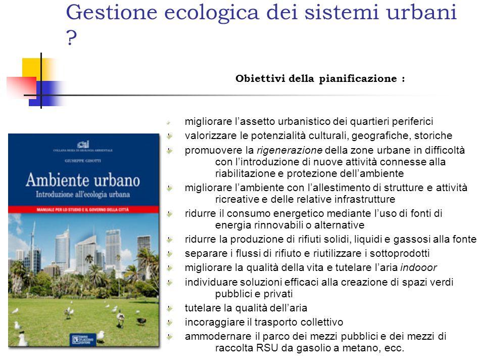 Gestione ecologica dei sistemi urbani