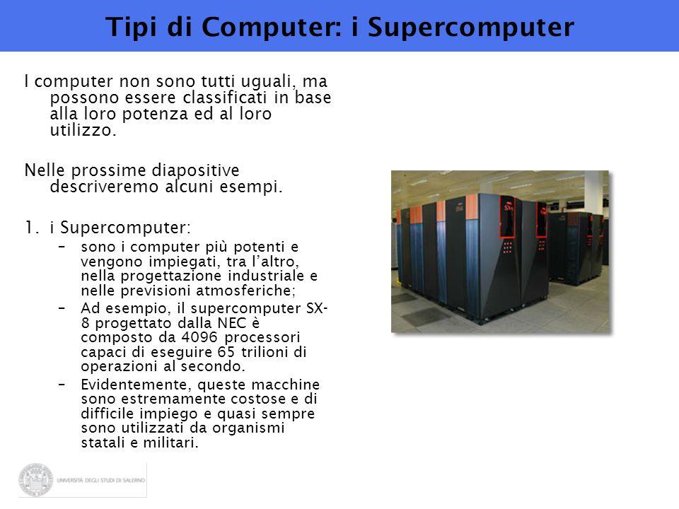 Tipi di Computer: i Supercomputer
