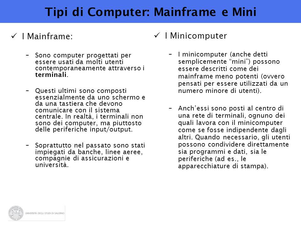 Tipi di Computer: Mainframe e Mini