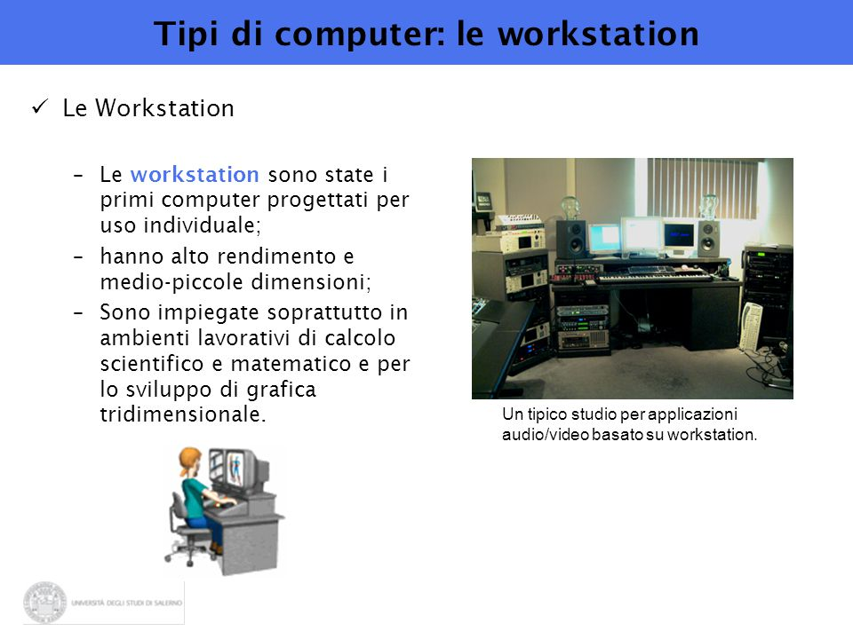 Tipi di computer: le workstation