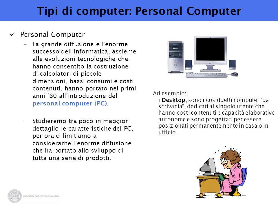 Tipi di computer: Personal Computer
