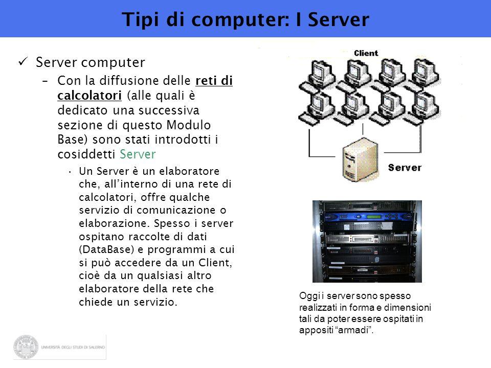 Tipi di computer: I Server