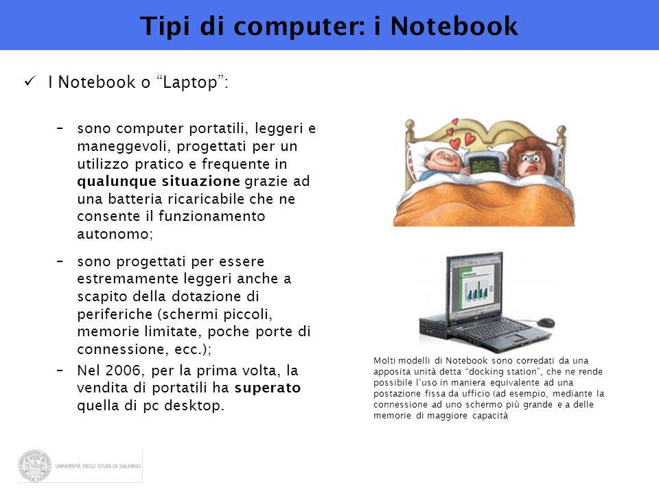 Tipi di computer: i Notebook