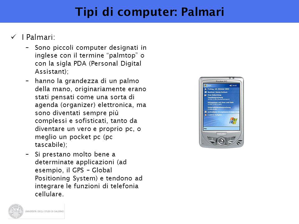 Tipi di computer: Palmari