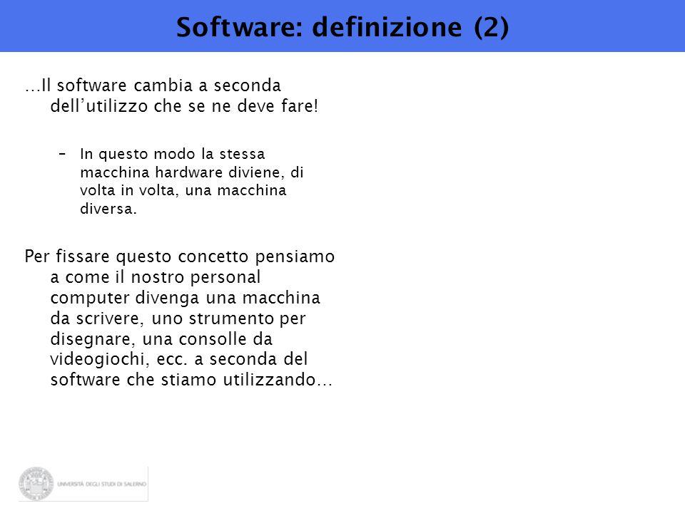 Software: definizione (2)