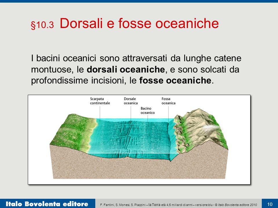 §10.3 Dorsali e fosse oceaniche