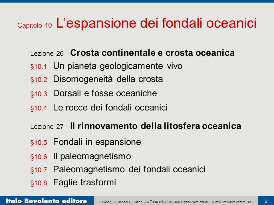 Capitolo 10 L'espansione dei fondali oceanici