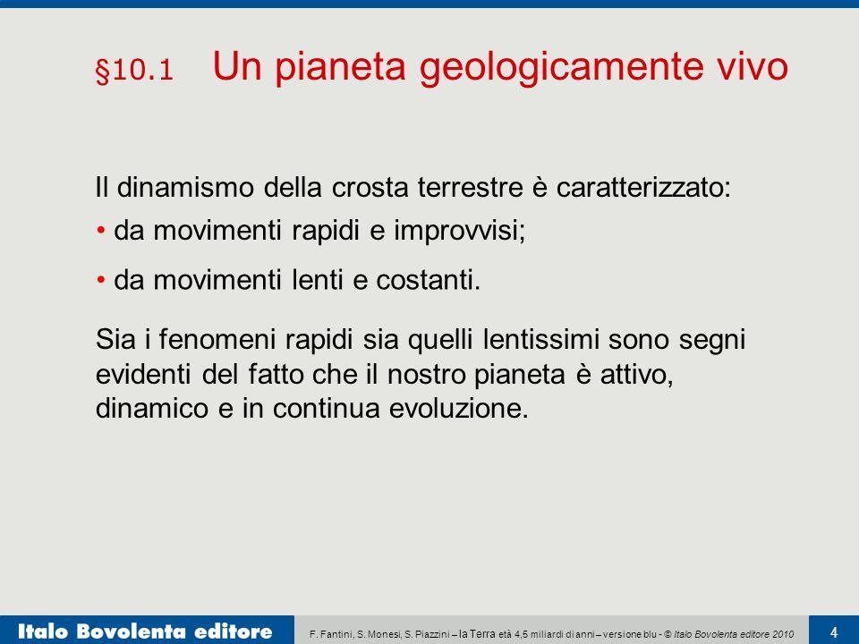 §10.1 Un pianeta geologicamente vivo