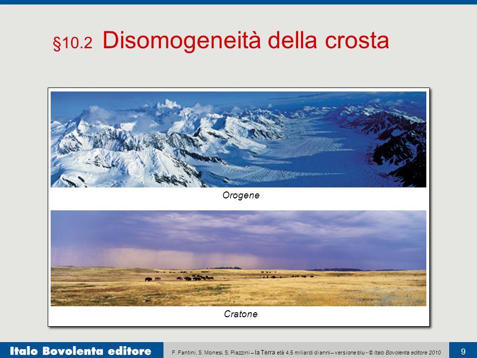 §10.2 Disomogeneità della crosta