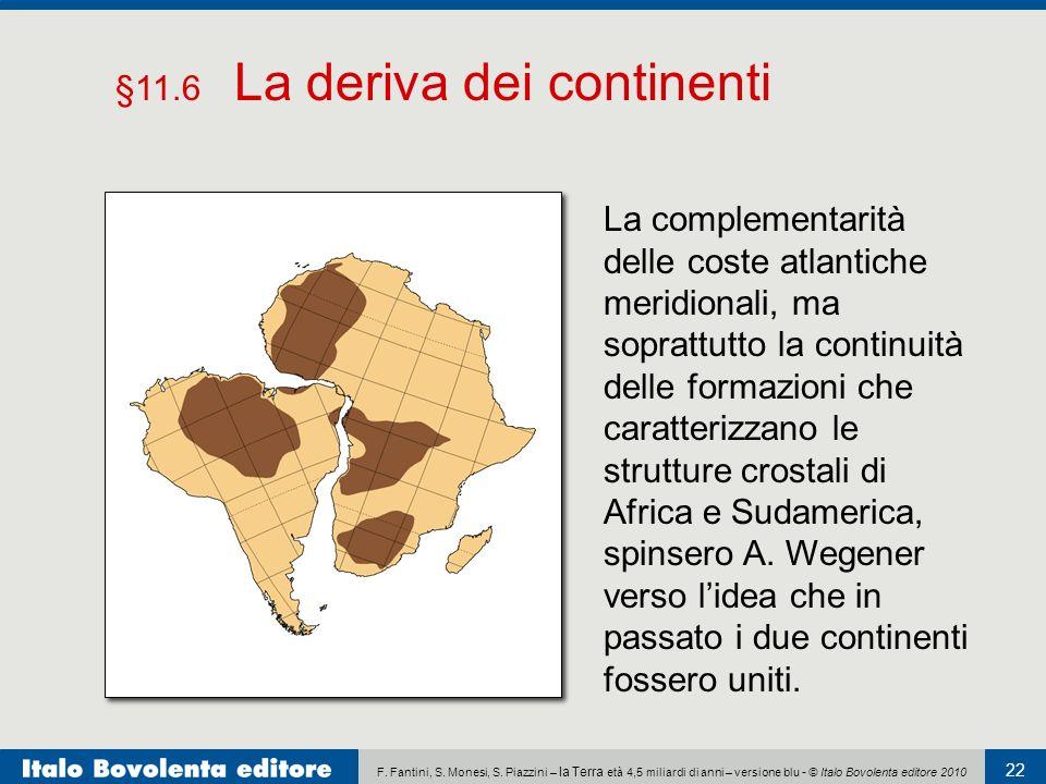 §11.6 La deriva dei continenti