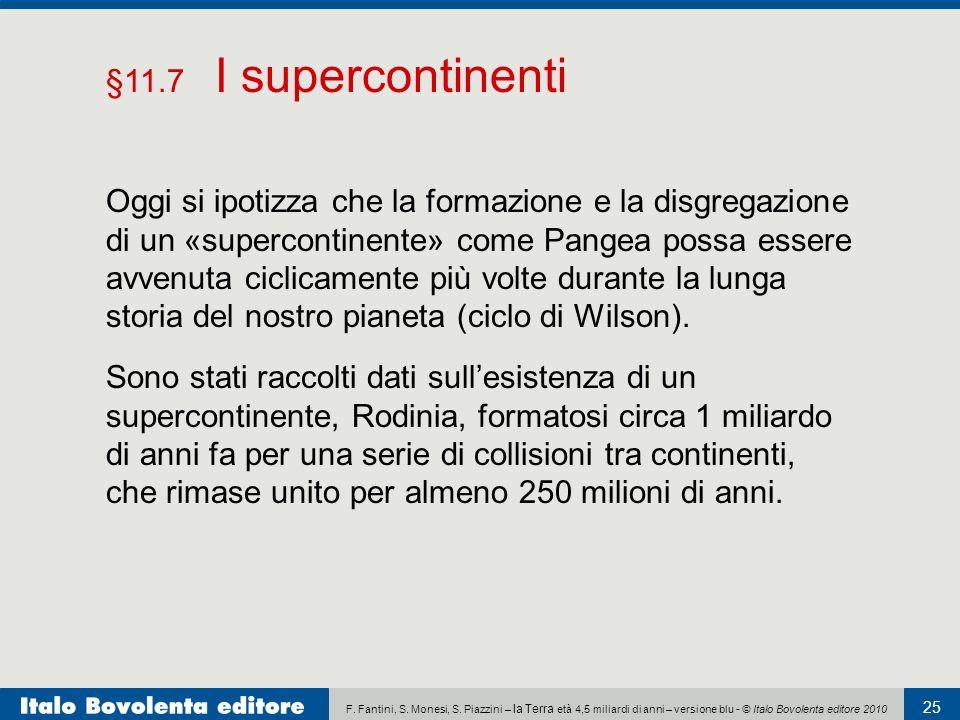 §11.7 I supercontinenti