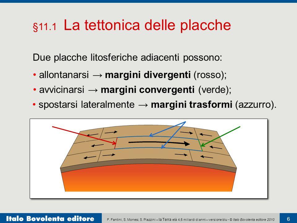 §11.1 La tettonica delle placche