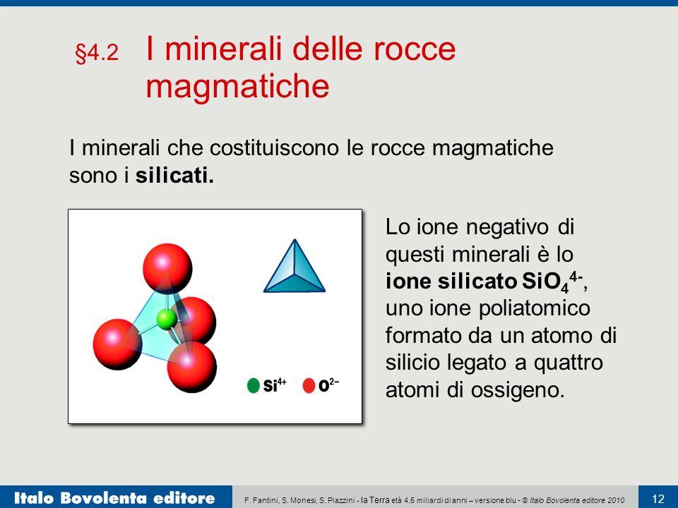 §4.2 I minerali delle rocce magmatiche
