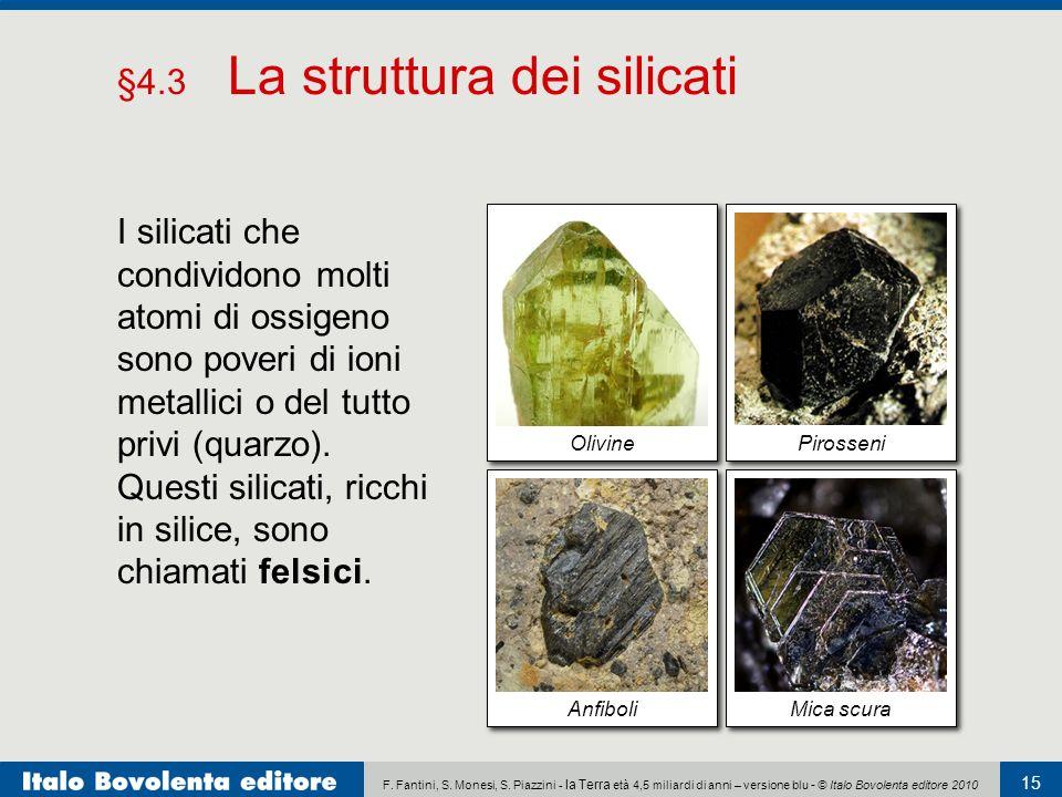 §4.3 La struttura dei silicati