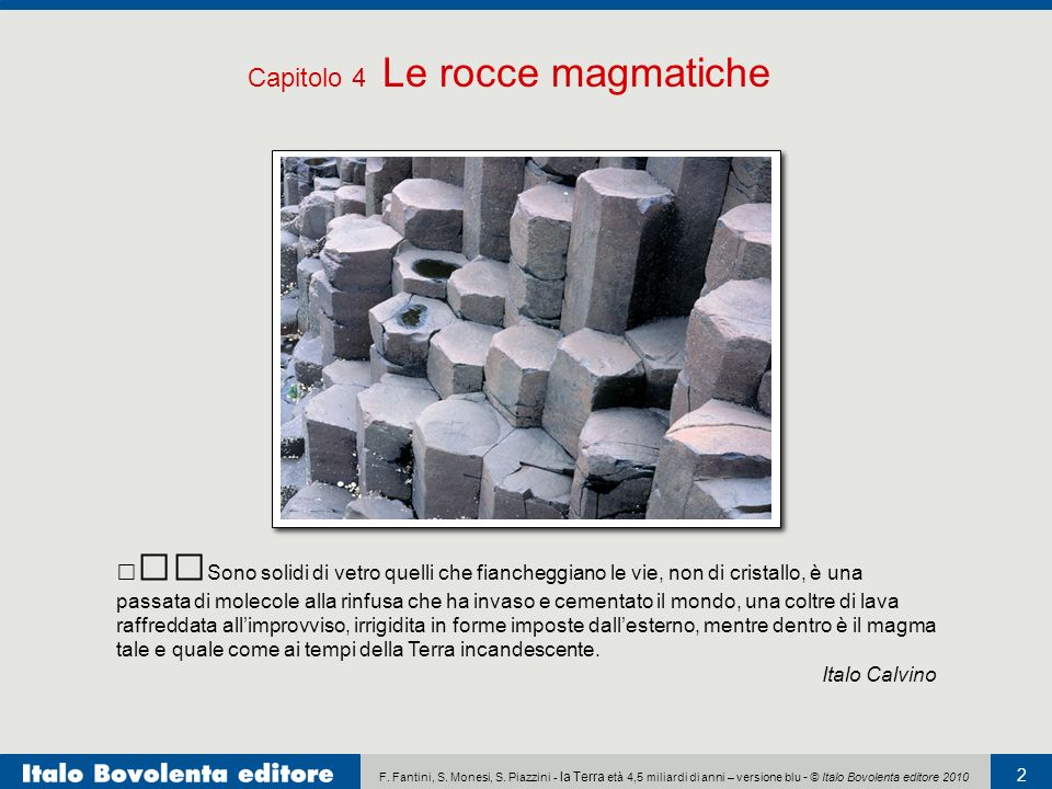 Capitolo 4 Le rocce magmatiche