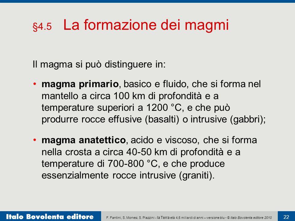 §4.5 La formazione dei magmi
