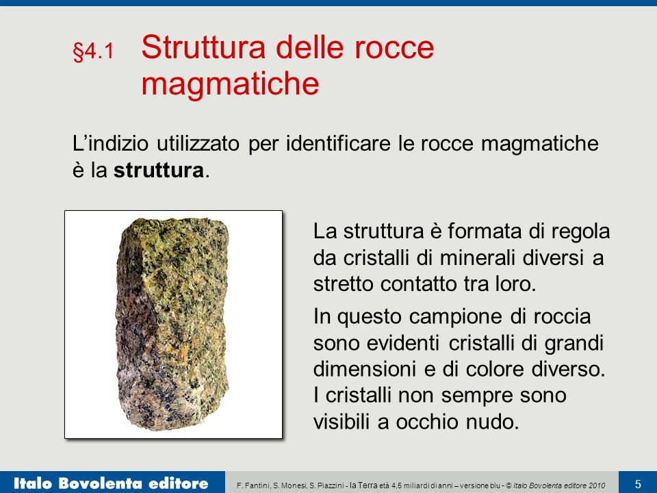 §4.1 Struttura delle rocce magmatiche