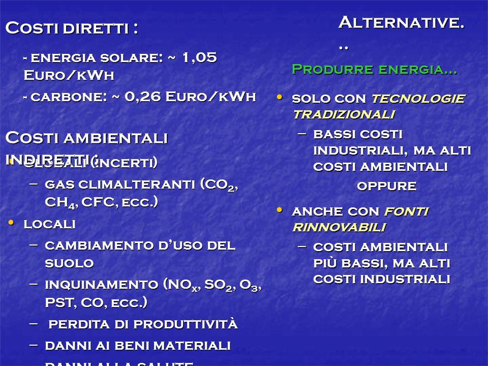 Costi ambientali indiretti :